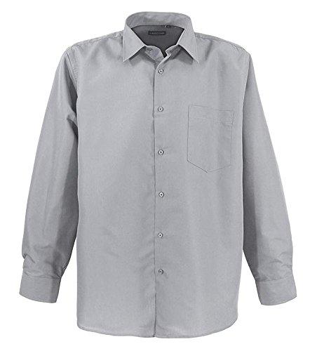 Übergrössen !!! Schickes Basic Herrenhemd LAVECCHIA HLA15-B2 Kitt
