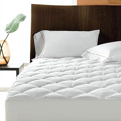 -[ Linens Limited Polycotton Quilted Mattress Protector, Extra Deep, Super King  ]-
