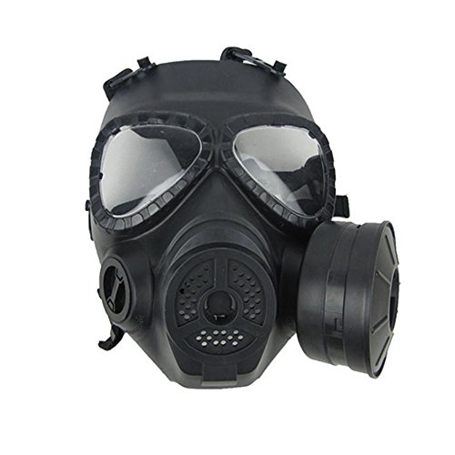 Zombie Military Costume (Zinnor Dummy Gas Mask Fan for CS Protection Zombie Soldiers Halloween Masquerade Resident Evil Antivirus Skull)