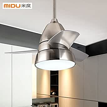 Leihongthebox Modern ceiling fan light continental restaurant is simple and where the remote home fan led lights, fan, 26 inch diameter 600mm/830mm570mm - black distribution remote control