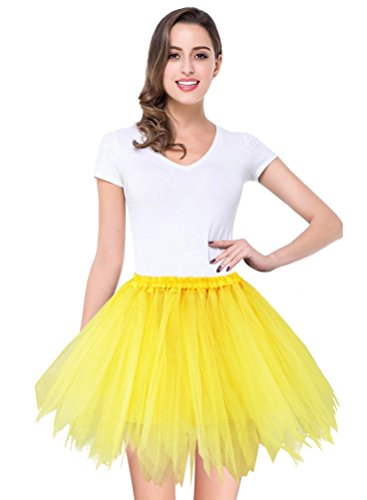 V28 Women's Teen's 1950s Vintage Tutu Tulle Petticoat Ballet Bubble Skirt (Plus Size (US: 10-18), (Plus Size Tutus Halloween)