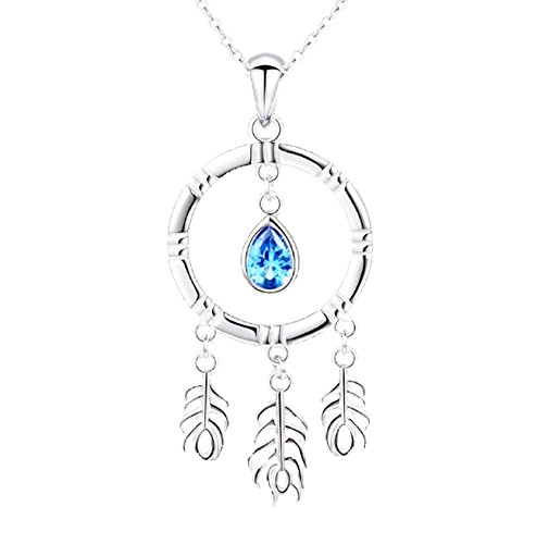 "♥Valentines Day Gifts for your beloved♥ 925 sterling silver Dream Catcher Pendant Necklace - Birthday Anniversary Mothers Day Fashion Jewelry present (Pendant + 18"" chain)"