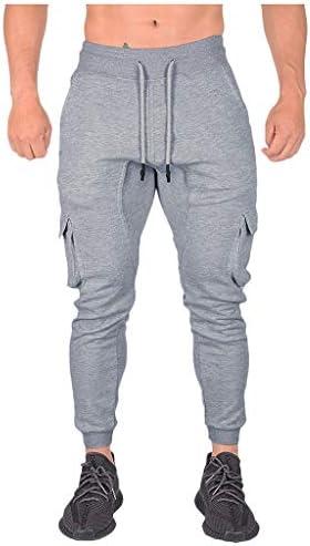 [해외]Men`s Gym Joggers Pants Slim Fit Stripe Fitness Training Workout SweatpantsCargo Pockets / Men`s Gym Joggers Pants Slim Fit Stripe Fitness Training Workout SweatpantsCargo Pockets Gray