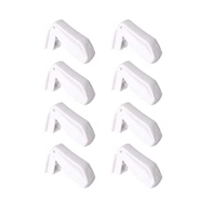 EUDEMON Plastic 8 Pack Kids Proofing Safety Drawer Stoppers Baby Safety Child Proofing Drawer Pinch Guards Easy to Install and Use 3M VHB Adhesive no Tools Need or Drill (White)