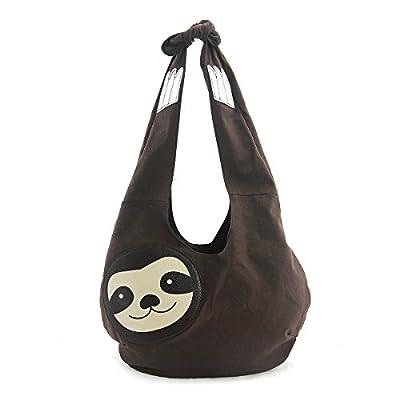 Sleepyville Critters Hang Loose Sloth Hobo Bag On Canvas - Men