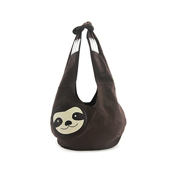 Sleepyville Critters Hang Loose Sloth Hobo Bag On Canvas -