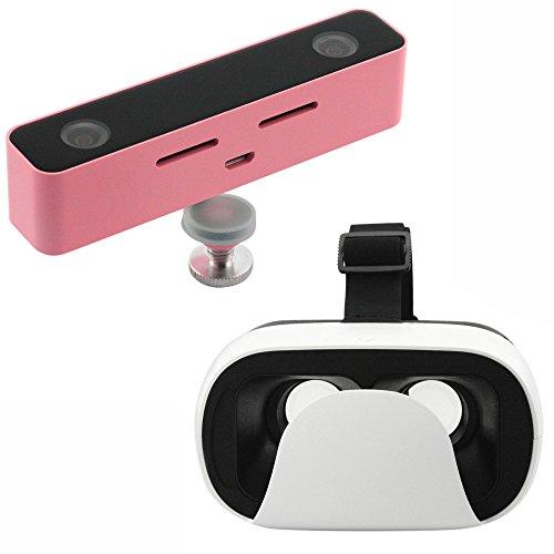 VR Brille und 3D-Kamera-Megapixel 720p HD-Video-Camcorder Im Freien Professionelle Digital Movie Shooting mit Doppelobjektiv Aluminiumgehäuse (pink-Ausrüstung)