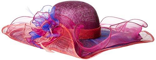 Scala Women's Fashion Big Brim Hat, Berry, One Size by Scala