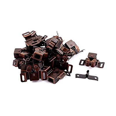 uxcell Cabinet Cupboard Door Double Ball Catch Latch Lock Bronze Tone 17 Pcs
