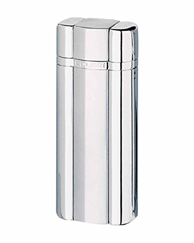 Polished Silver Colibri Lighter (Heritage Electro-Flame Single Flame Cigar and Cigarette Lighter in an Attractive Gift Box Satin Silver Polished Silver)
