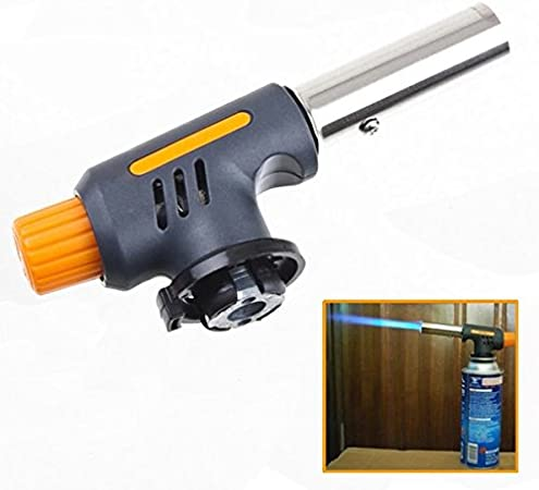 Gas jet flame burner gun fire lighter gas torch for outdoor picnic campingD1o