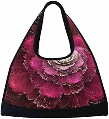 OuLian Duffel Bags Pretty Red Maple Leaf Womens Gym Yoga Bag Small Fun Sports Bag for Men
