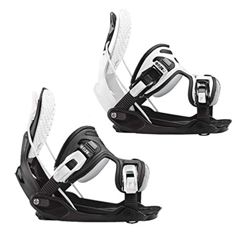 Flow Alpha White and Black Stormtrooper Snowboard Bindings 2020 - XL - Upgraded