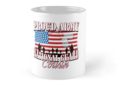 (CASURI Mugs Proud Army National Guard Cousin, USA Military Armed Forces, Patriotic American Flag, Patriotism Red, White, Blue Design Day 4th Of July Independence American Flag Gift For Dad, Uncle, Mo)