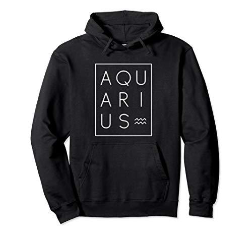 Aquarius Hoodie Sweatshirt Zodiac Sign Astrology Birthday
