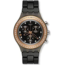Swatch Chrono Full Blooded Stoneheart Black Aluminum Unisex Watch SVCM4008AG
