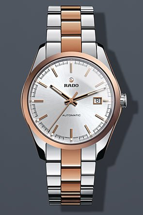 Rado Hyperchrome Silver Dial Ceramic SS Automatic Ladies Watch R32980102