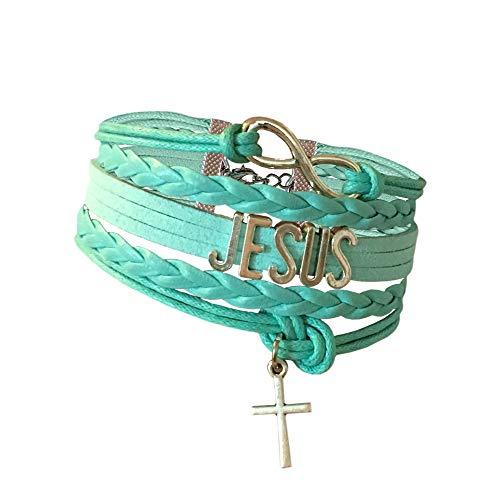 BAE Icons Infinity Charm Bracelet. Jesus Bracelet. Perfect