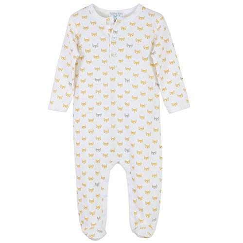 Feather Baby Boys Clothes Pima Cotton Long Sleeve Henley Sleep 'N Play Footie Romper