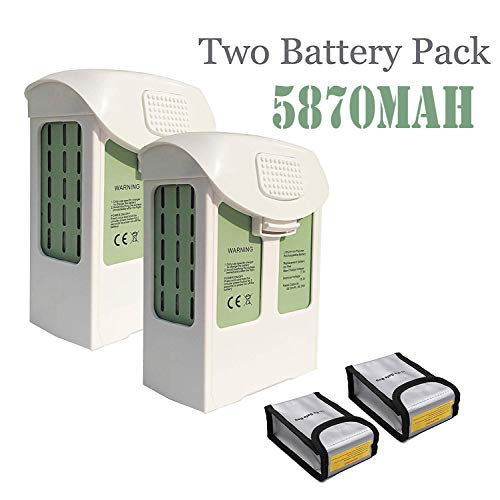 JoyBros 2-Pack Phantom 4 Battery 15.2V 5870mAh LiPo Intelligent Flight Battery Replacement Compatible for DJI Phantom 4,Phantom 4 Pro V2.0, Phantom 4 Pro Plus, Phantom 4 Advanced (2 Phantom V2)