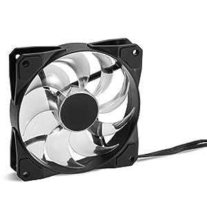 Sharkoon PACELIGHT F1 RGB LED - Ventilador de Caja, Gaming, 1400 RPM, Negro