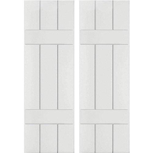 Ekena Millwork RWB12X036PRP Exterior Three Board