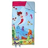 Mermaid Sleeping Bag - 32'' x 60'' Child-size, Indoor, Lightweight, Custom-embroidered Name, Girl's Sleeping Bag