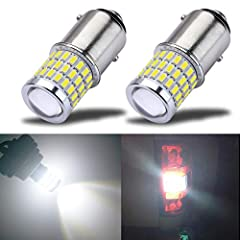 Features Dual Brightness: The Dim mode is Tail lights or DRL, while the Bright mode is Brake/Turn Signal lights or Back Up Reverse lights.  High Brightness LED: 54SMD 3014 chipset & 3SMD 3030 chipset. Working Voltage: 9-30V (fit 12V, 24V ...