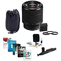 Sony FE 28-70mm F3.5-5.6 OSS E-Mount NEX Camera Lens - Bundle with 55mm Filter Kit (UV/CPL/ND), LensPen Cleaner, Soft Lens Case, Cleaning Kit, Professional Software Package