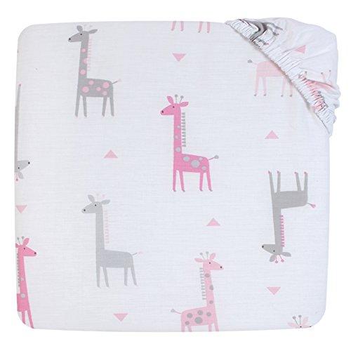 Little Love by NoJo Giraffe Time 4 Piece Bedding Set, Pink