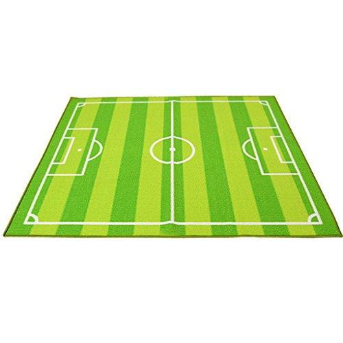 CarPet Rectangular soccer field Non-slip washable Living room Eco-friendly rug Children's bedroom rug (Size : 133180cm) by CarPet