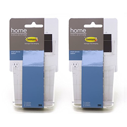 2pk-3m-command-smart-phone-station-clear-mounting-mobile-cell-phone-caddy-holder-desk-bed