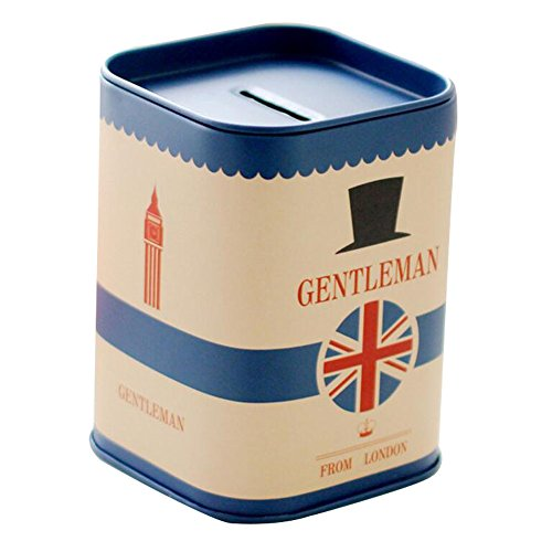 George Jimmy English Flag Coin Holder Coin Collecting Purse Money Box Bag Gift for Kids Blue ()