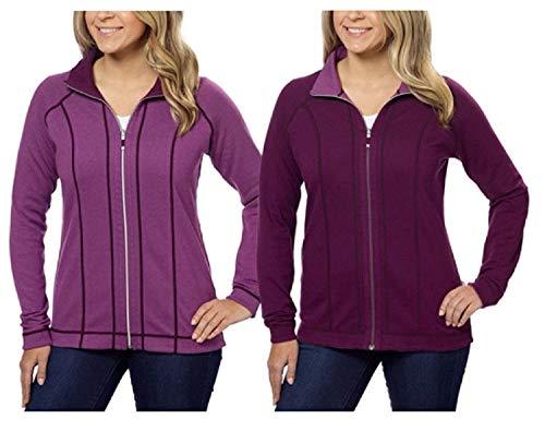 (Kirkland Signature Ladies Reversible Full Zip Jacket (Purple,)