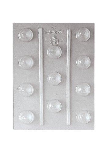 Paderno World Cuisine 11 Imprint 1.125-Inch Diameter Polypropylene Chocolate Mold, Praline Swirl ()