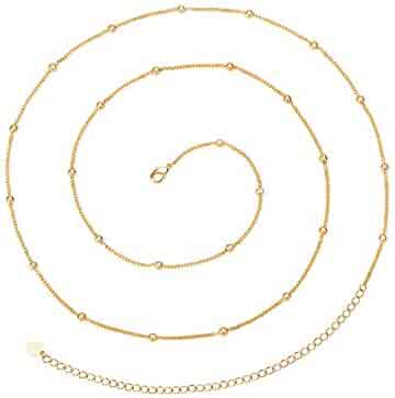 6e8aa08eb0c PEARLADA Minimalist Beach Bikini Body Chain 18K Gold Satellite Belly Chain  Belt Handmade Adjustable Jewelry for