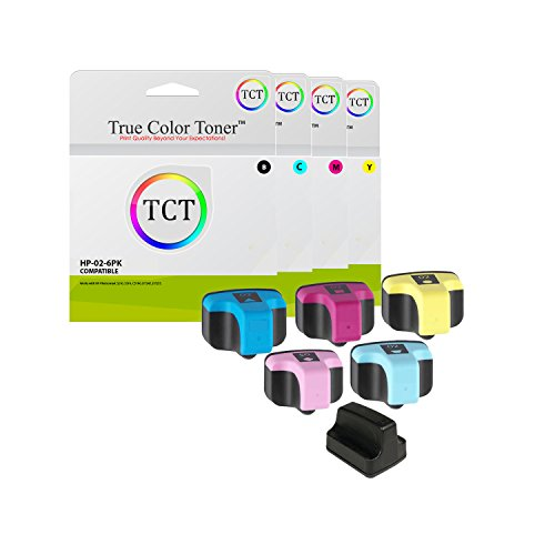 - TCT Compatible Ink Cartridge Replacement for HP 02 Works with HP Photosmart 3110 3210 3210v 3210xi 3310 C5180 D7245 D7255 Printers (Black, Cyan, Magenta, Yellow, Light Cyan, Light Magenta) - 6 Pack