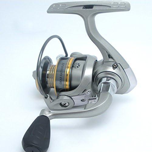CXZC Angelrolle,Tragbare Mini Spinnrolle Angelleine R/äder Spinning Rollen f/ür Fische Rod 5BB Kugellager Links//rechts Out