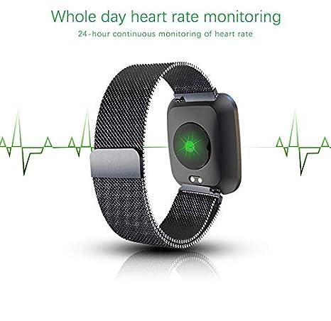 iCoverCase Inteligente reloj, Bluetooth SmartWatch deportivos Rastreador para Negro