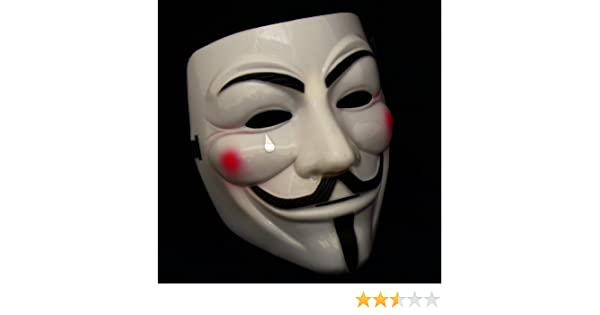 1 X ANONYMOUS V FOR VENDETTA GUY FAWKES FANCY DRESS COSTUME FACE MASK YELLOW CREAM: Amazon.es: Electrónica