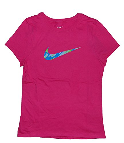 Nike Girl's Graphic T Shirt Swoosh Logo Cotton Pink AQ2509 616 (l)
