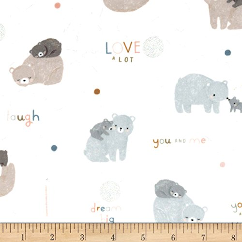 Michael Miller Minky Bear Love Bear Love Cream Fabric By The Yard - Michael Miller Cream