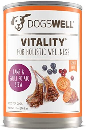 DOGSWELL Vitality Wet Dog Food with Vitamins Essential Fatty Acids, 12 cans, 13 oz