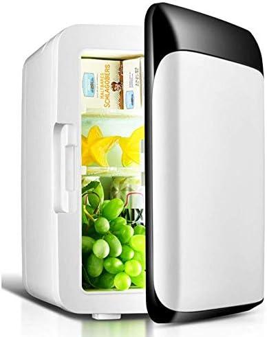 ZWH-ZWH カー冷蔵庫8Lブラック冷蔵庫/ミニ冷蔵庫シングルドア/小型冷蔵庫家族ホーム/ 12V車/ 220V小型冷蔵庫世帯(カラー:ホワイト) 車載用冷蔵庫