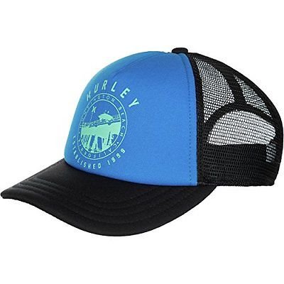 Price comparison product image Hurley Destination Trucker Hat - Womens Photo Blue,  One Size