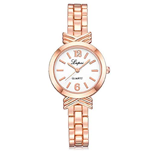 Fashion Clearance Watch! Noopvan Women's Quartz Watch Ladies Casual Bracelet Stainless Steel Wrist Watches on Sale (Rose Gold)
