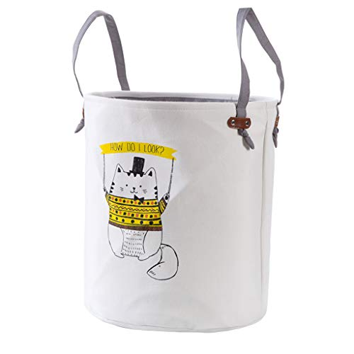 FLYSXP Canasta de lavandería de Dibujos Animados Gran Gato Gordo ...
