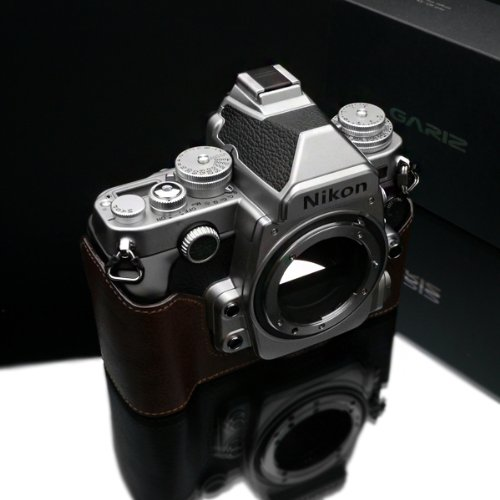 Gariz Genuine Leather XS-CHDFBR Camera Metal Half Case for Nikon DF, Brown
