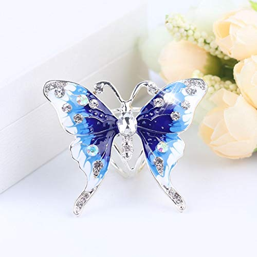 POLPEP high-end Fashion Three-Ring Scarf Buckle Corsage Brooch Lapel pin Badge Women Girls Shawl Scarves Jewelry Gift Woman (Sky (Female Insignia Ring)