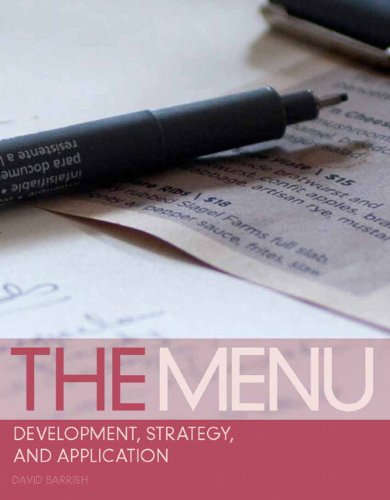 The Menu: Development, Strategy, and Application by David Barrish